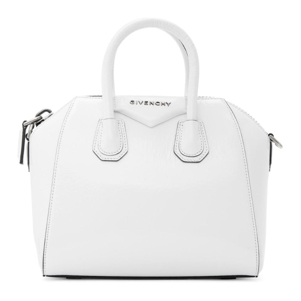fd5c01d4a163 Givenchy - White Mini Antigona Duffle Bag - Lyst. View fullscreen