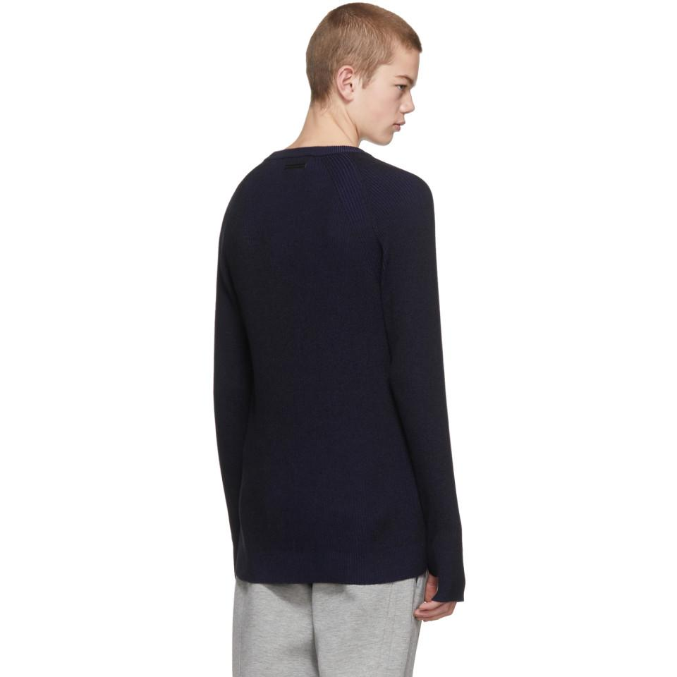 Outlet Marketable For Sale Blue and Black Ribbed Sweater Diesel For Nice Cheap Price VfZhiSx