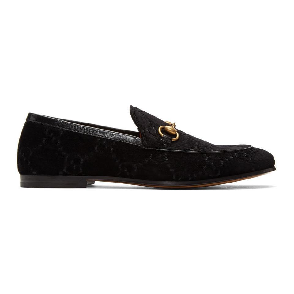 6dc83844174 Gucci Jordaan Gg Velvet Loafer in Black for Men - Save 24% - Lyst