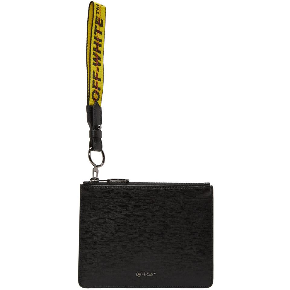 Off-white quote double flat pouch - Black Nu1Bt