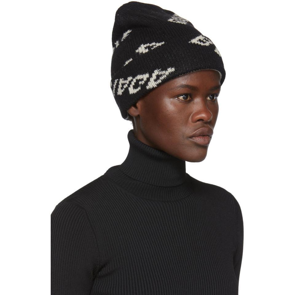 cbaa8ab492750 Balenciaga - Black Jacquard Logo Beanie - Lyst. View fullscreen