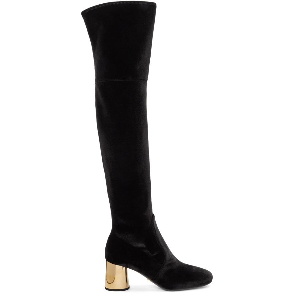 Prada & Square Over-the-Knee Boots