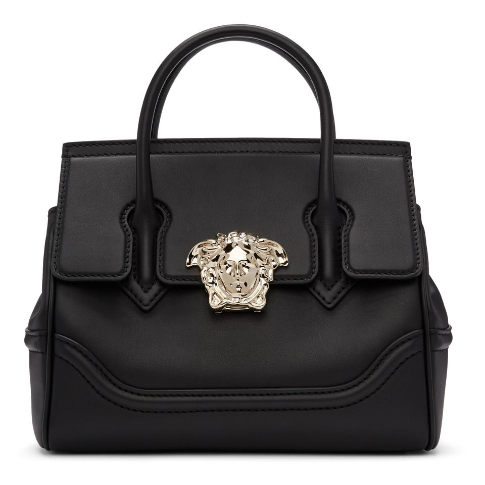 acbfd1cb224a Lyst - Versace Black And Gold Medium Empire Bag in Metallic