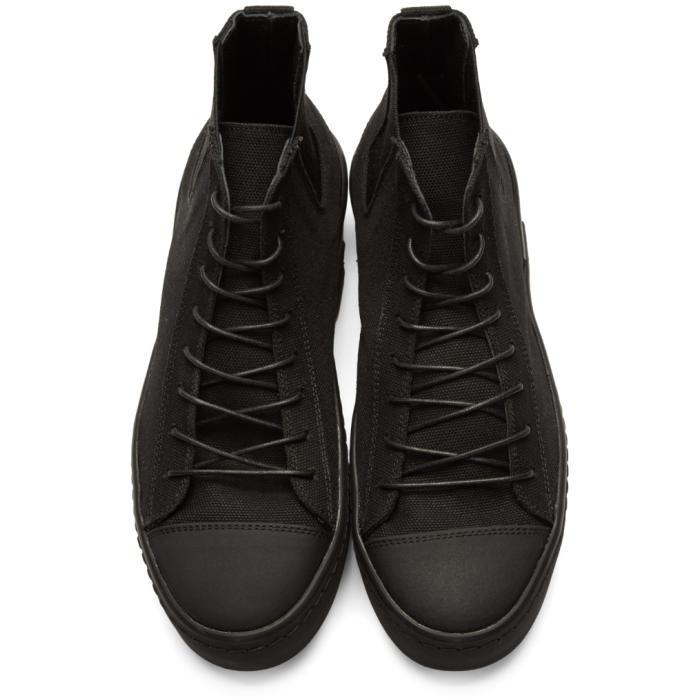 a30073c05 Lyst - Yohji Yamamoto Black Gore High-top Sneakers in Black