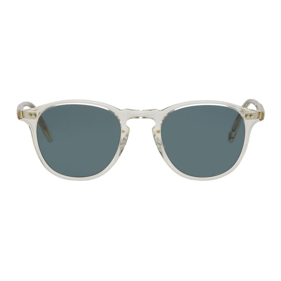 d0a8876b19 Garrett Leight Transparent And Blue Hampton Sunglasses for Men - Lyst