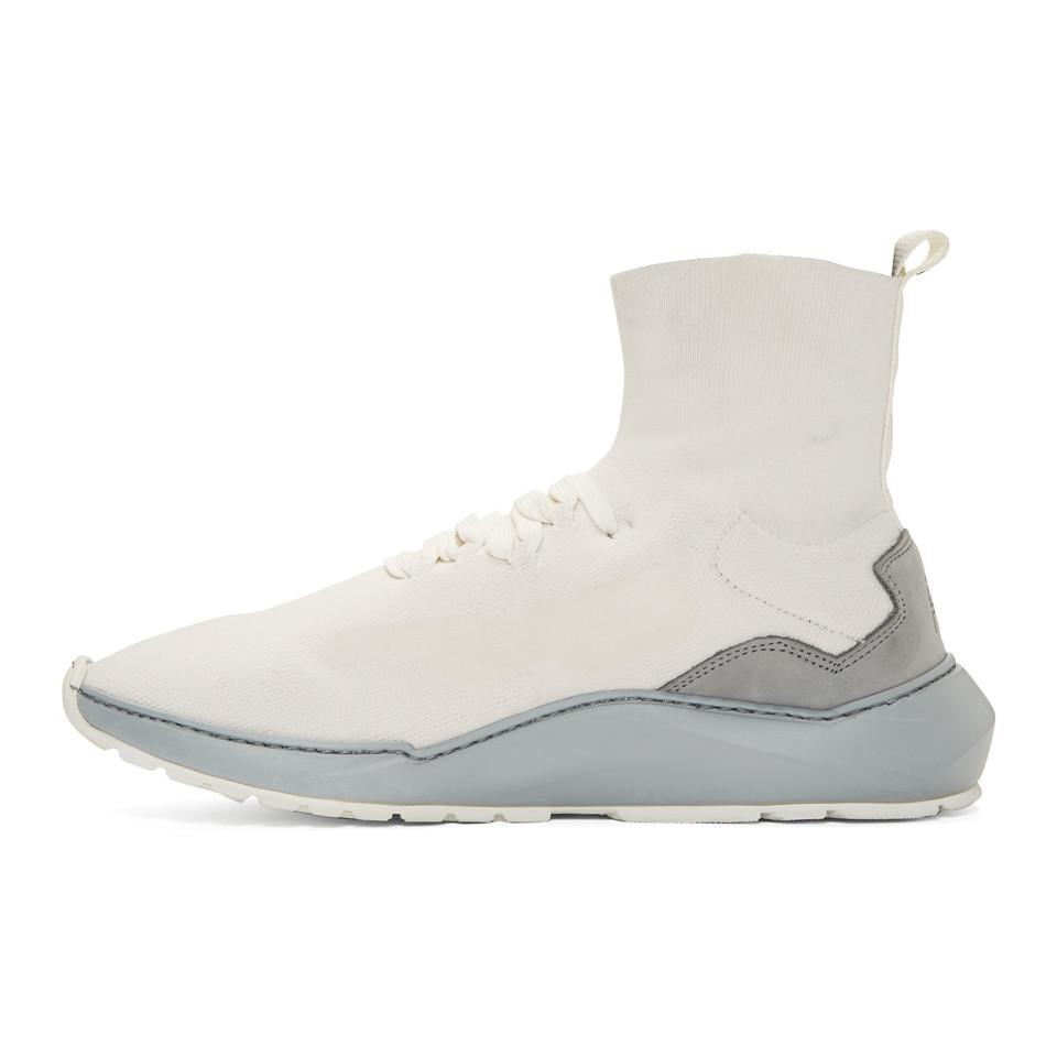 Filling Pieces White Mid Knit Arch Runner Sneakers AjHrlonvU