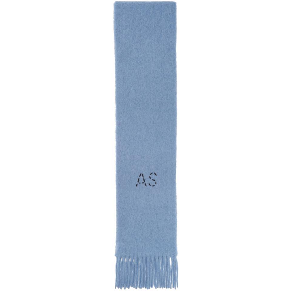 Lyst - Foulard bleu Kelow Skinny Acne Studios en coloris Bleu a39fe7b9744