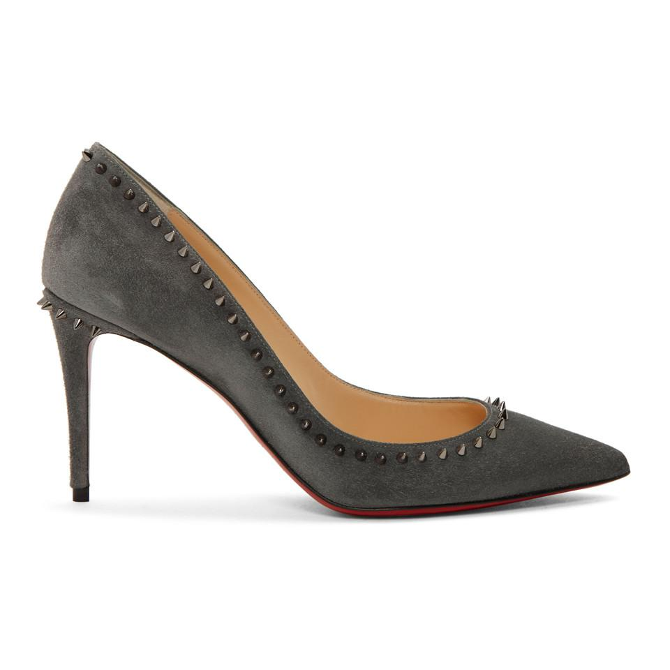 3b59fcdf263 Christian Louboutin. Women s Grey Suede Anjalina Heels