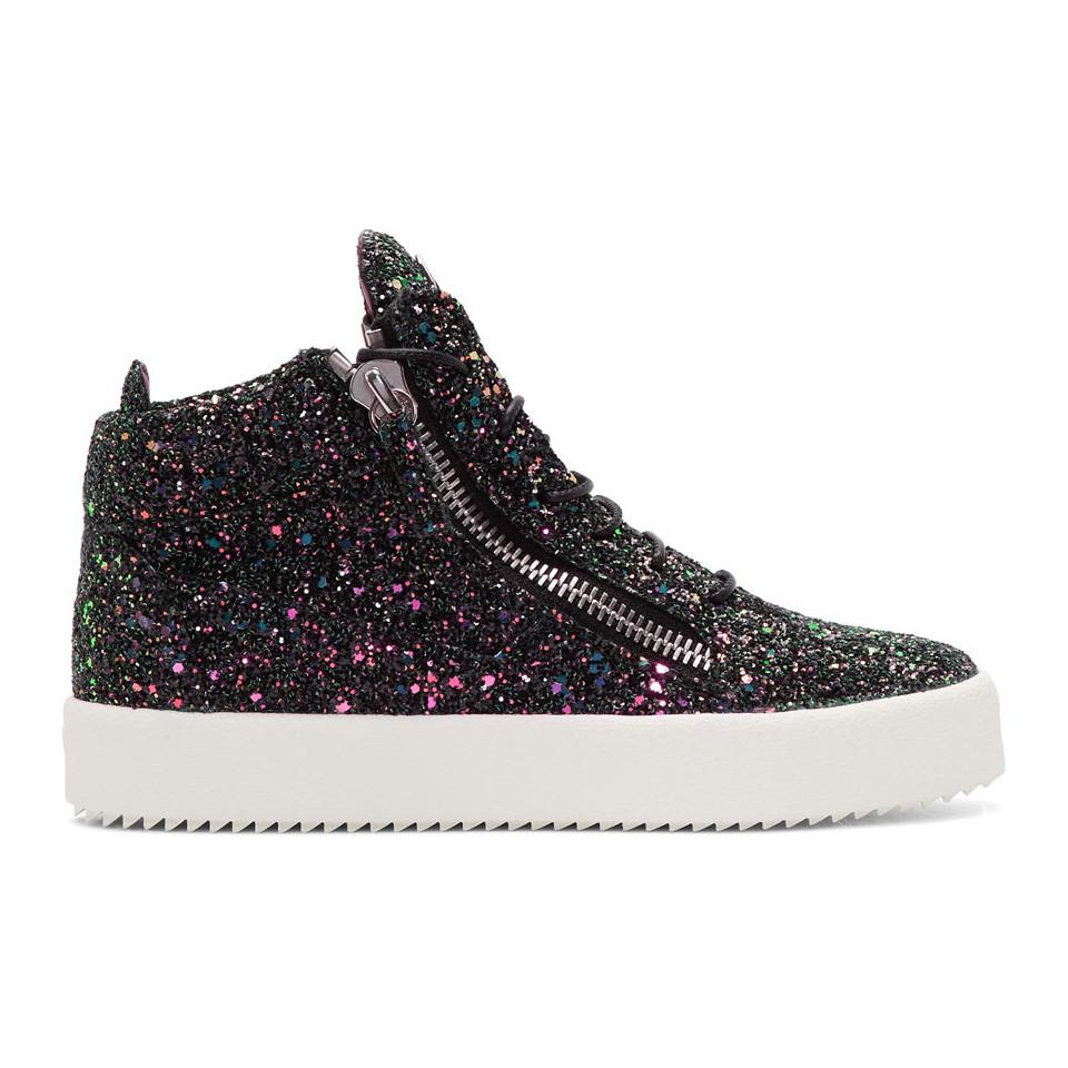 Brand New Unisex Sale Online Discount Low Price Black Glitter May London High-Top Sneakers Giuseppe Zanotti Buy Cheap Pay With Paypal mx8Lua