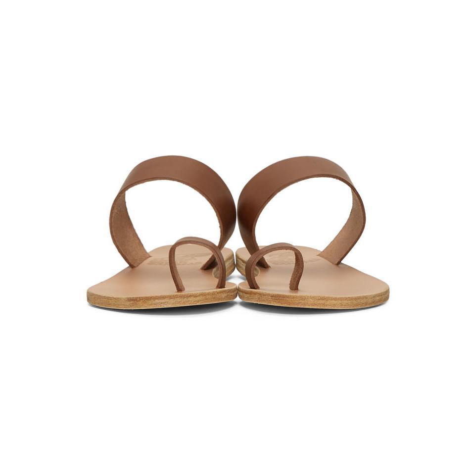 e6928373bb232 Ancient Greek Sandals - Brown Thraki Sandals - Lyst. View fullscreen