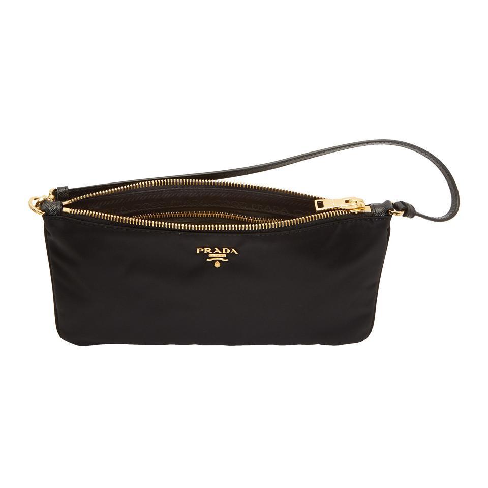 ca7be8e8d51b Prada Black Nylon Pouch Shoulder Bag in Black - Lyst