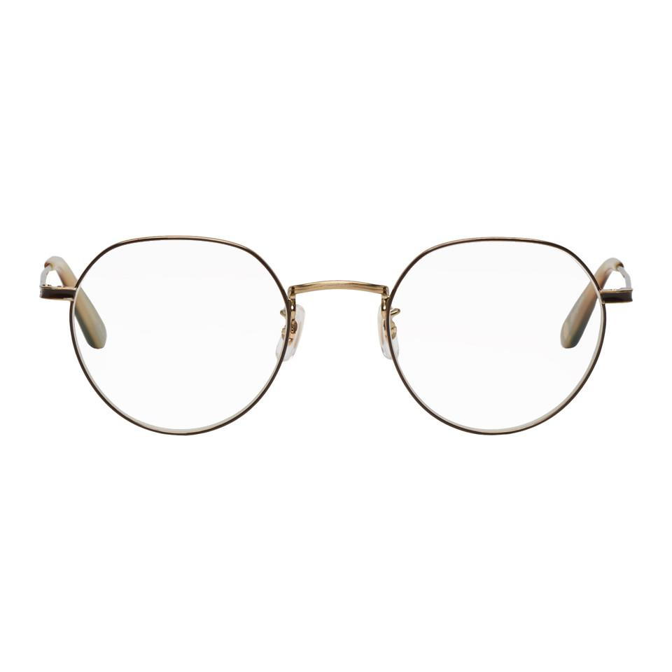 104a5d560a4 Lyst - Garrett Leight Gold Robson Glasses in Metallic for Men