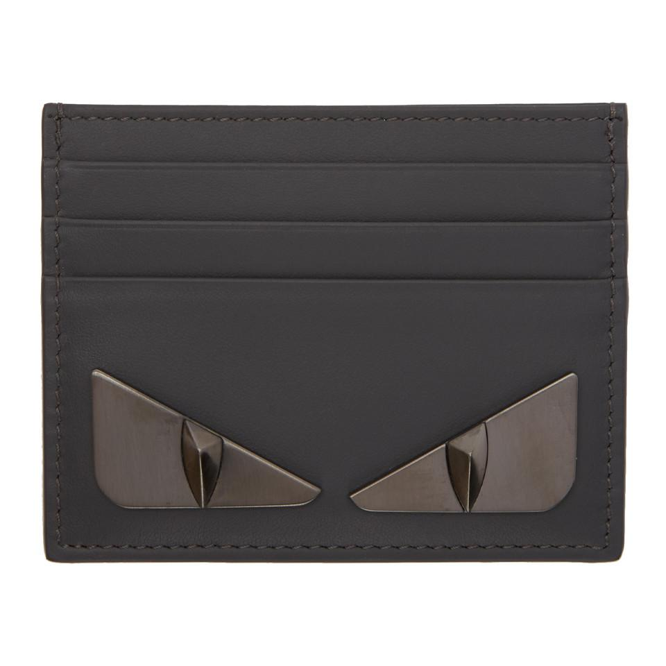 Fendi Grey Bag Bugs Card Holder in Gray for Men - Lyst f49cba010299b