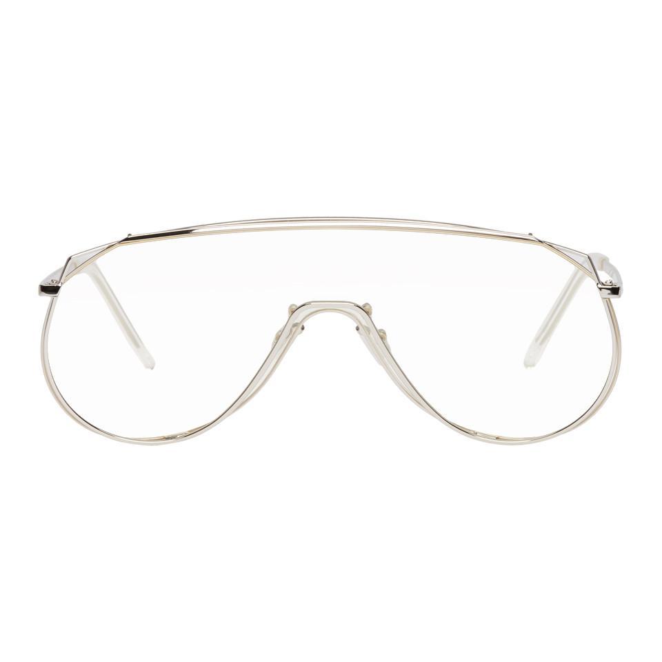 db540a231eca Lyst - Gentle Monster Silver Afix Shield Sunglasses in Metallic for Men