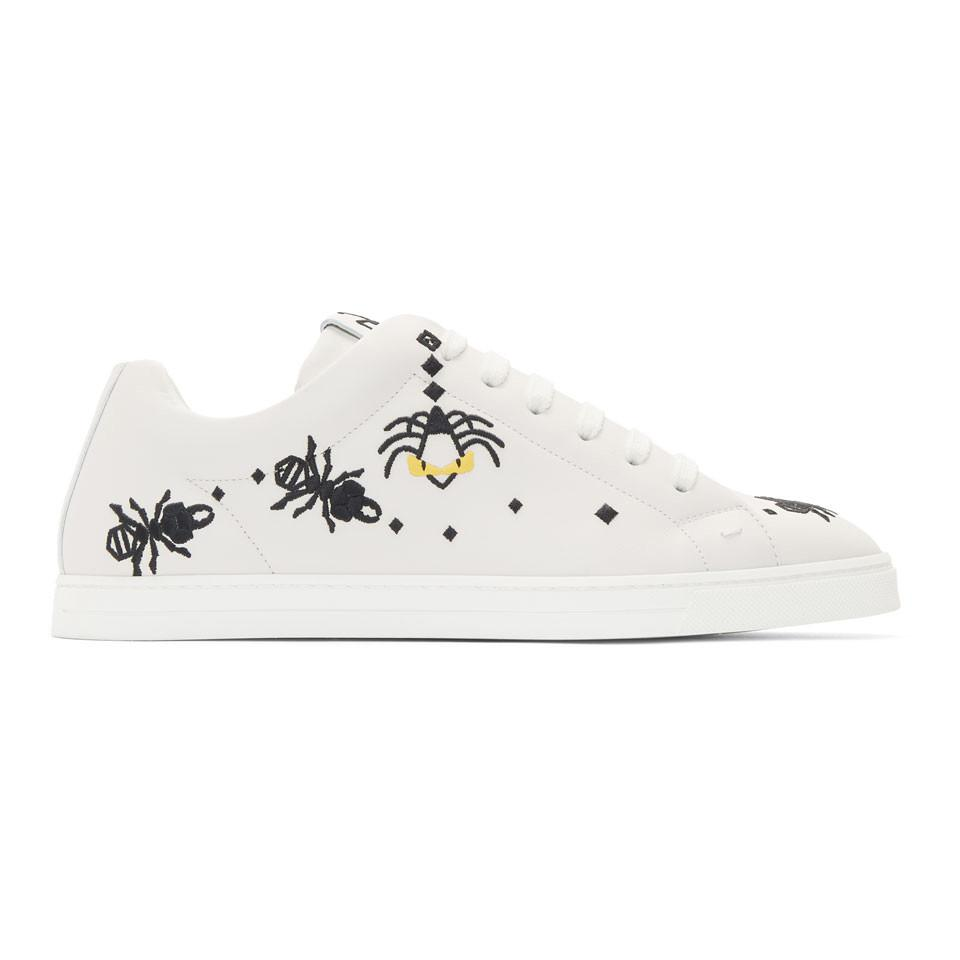 FendiLeather 'Super Bugs' Sneakers OsyjUmGgO