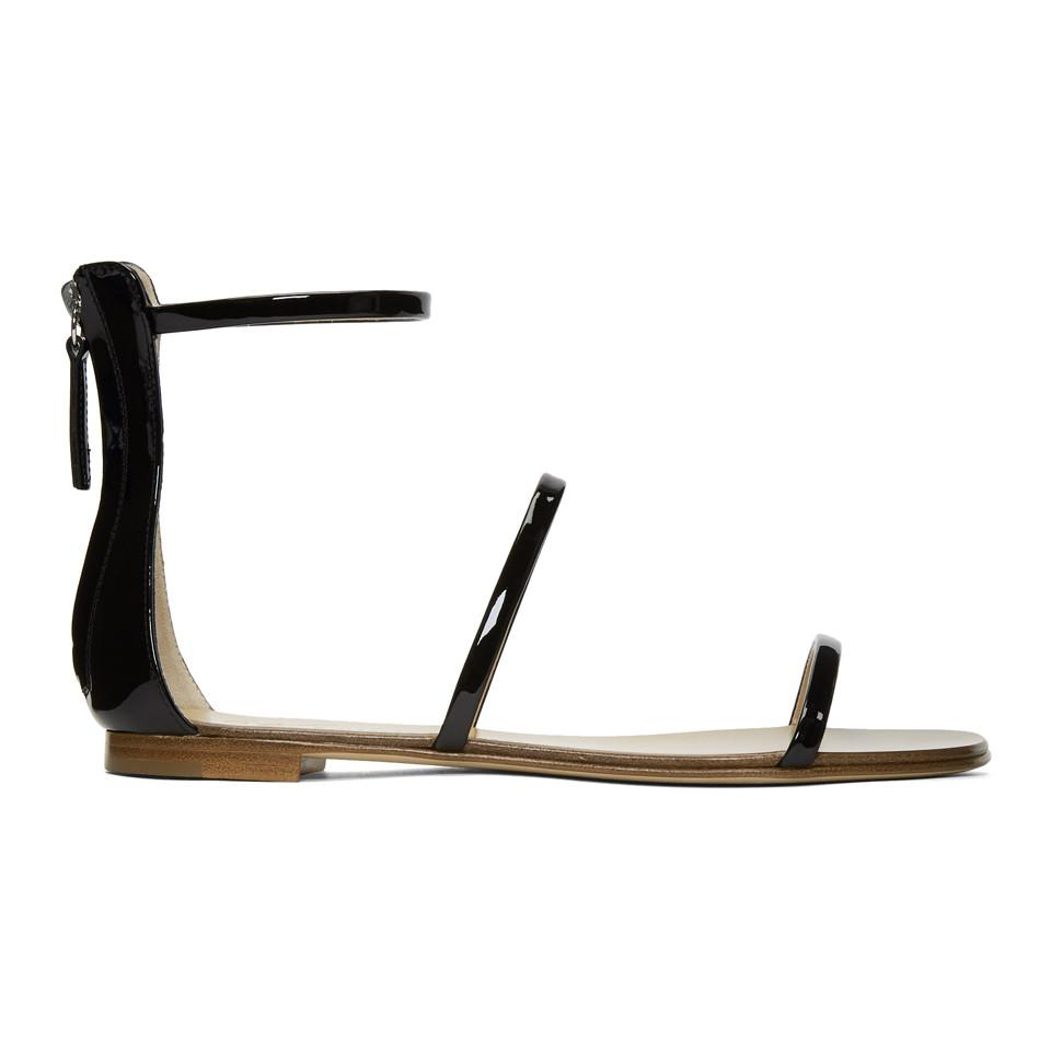 Giuseppe Zanotti Patent Roll Sandals KK9jGXN5M