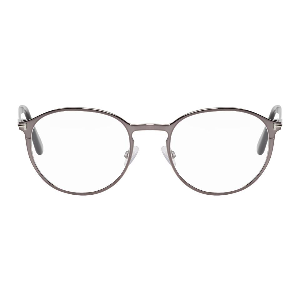 61844e726a00 Lyst - Tom Ford Gunmetal And Black Magnetic Clip-on Ft5476 Glasses ...