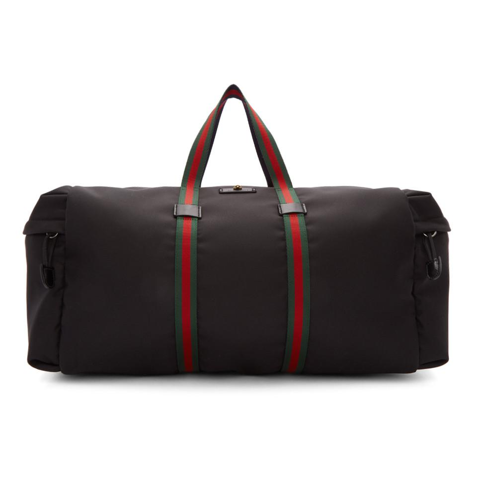 bc96ed42f Lyst - Gucci Black Technical Duffle Bag in Black for Men