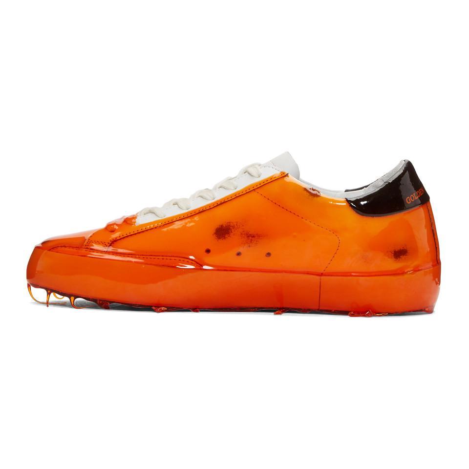 Golden Goose Orange Skate Dip Superstar Sneakers 86PlYKW3VS