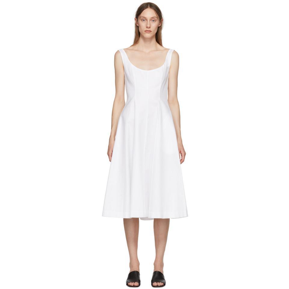 Buy Cheap Best Sale Cheap Sneakernews White Cindy Dress Khaite Free Shipping Websites Sale Hot Sale Cheap Price Buy Discount gu20j