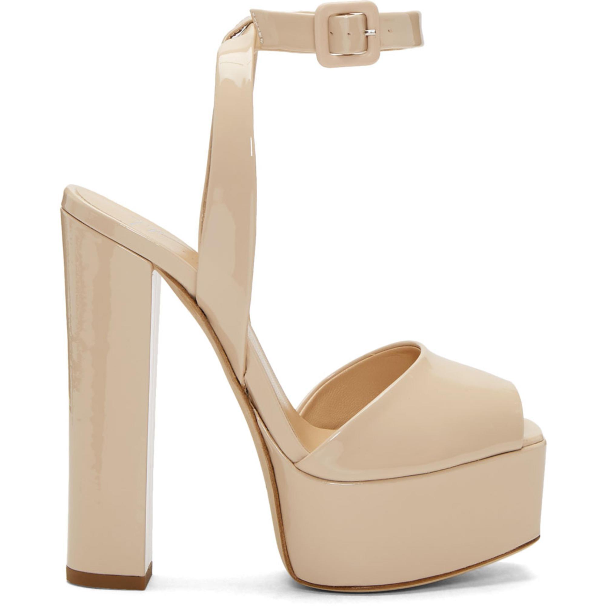 Giuseppe Zanotti SSENSE Exclusive Pink Patent Lavinia Platform Sandals NHsqjDt