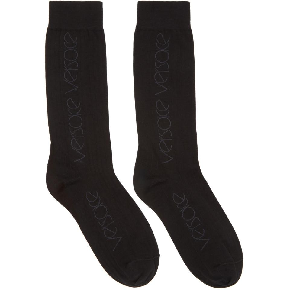 logo patterned socks - Black Versace Free Shipping Really 4y5ztvc6a7