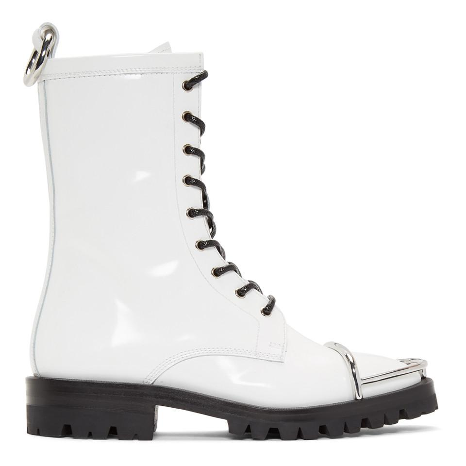 7ec549784557 Lyst - Alexander Wang White Kennah Boots in White