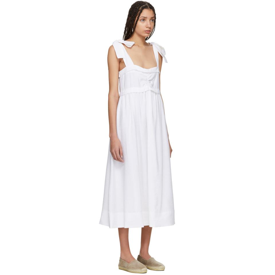 White Tie Shoulder Dress See By Chloé OIsipQcJO