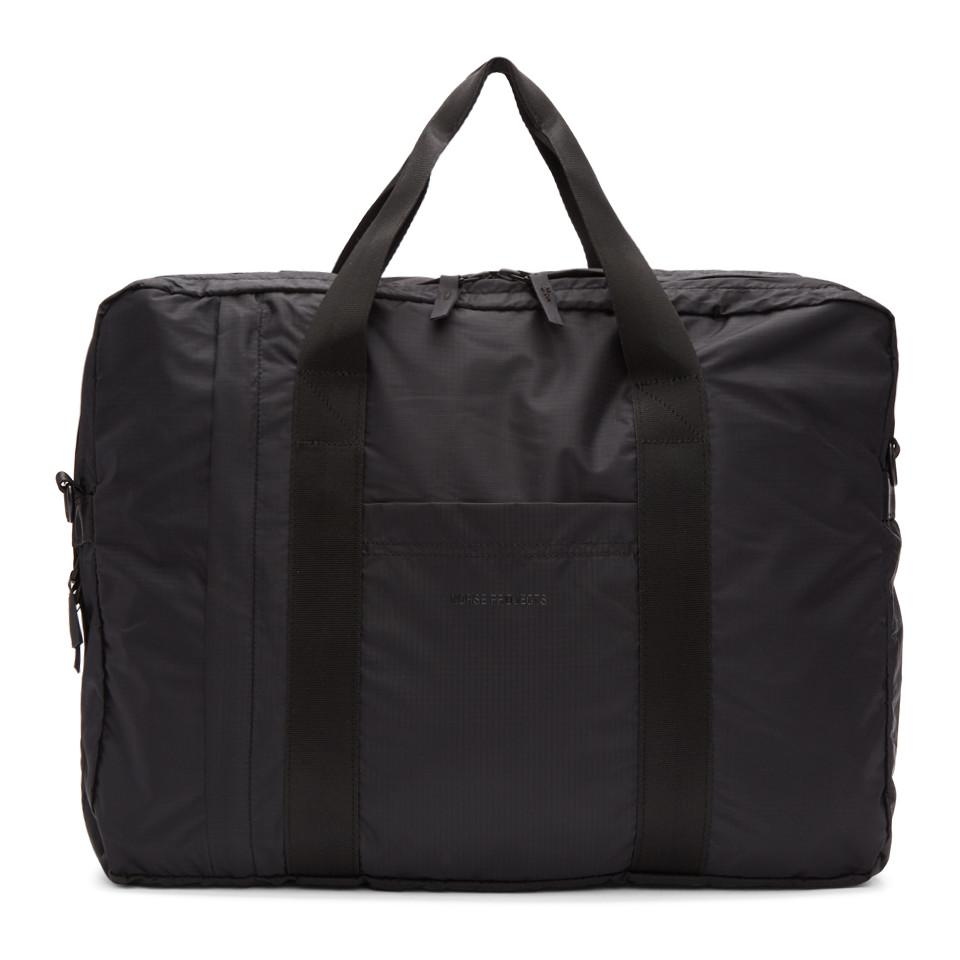 a98cc4b5f20 Lyst - Norse Projects Black Ripstop Two-way Shoulder Bag in Black ...