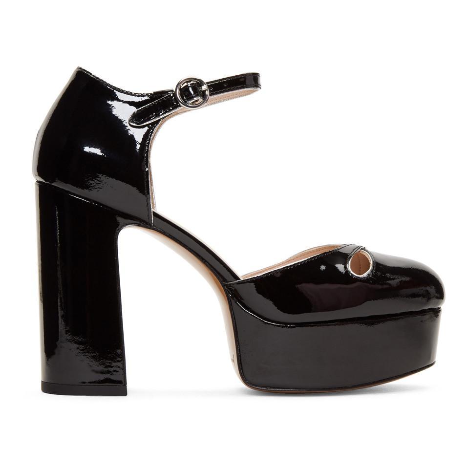 388a2ed6f6e Lyst - Marc Jacobs Black Patent Lucille Platform Heels in Black