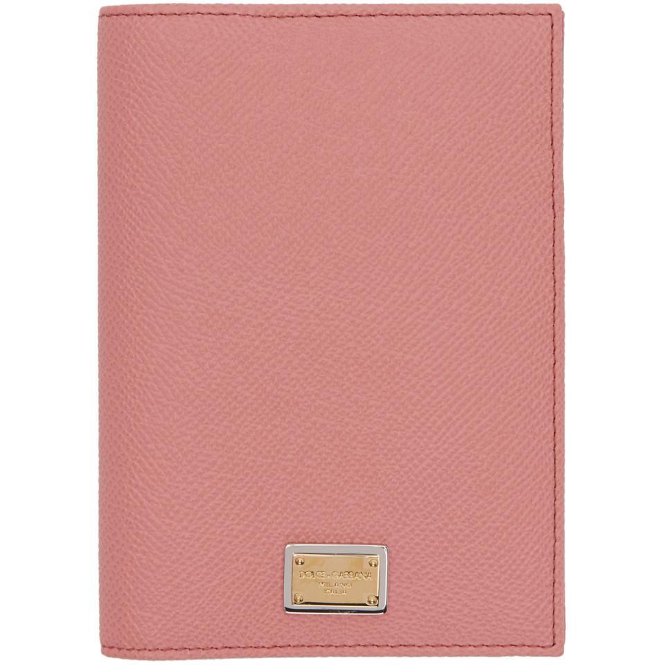 logo passport cover - Pink & Purple Dolce & Gabbana gGhao