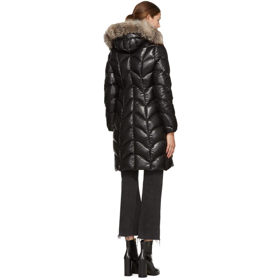 moncler black down albizia coat