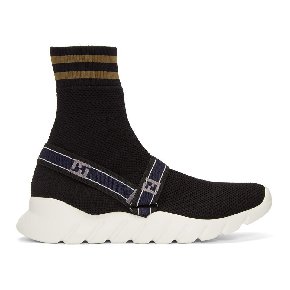 Fendi Forever ' Knit High-Top Sneakers