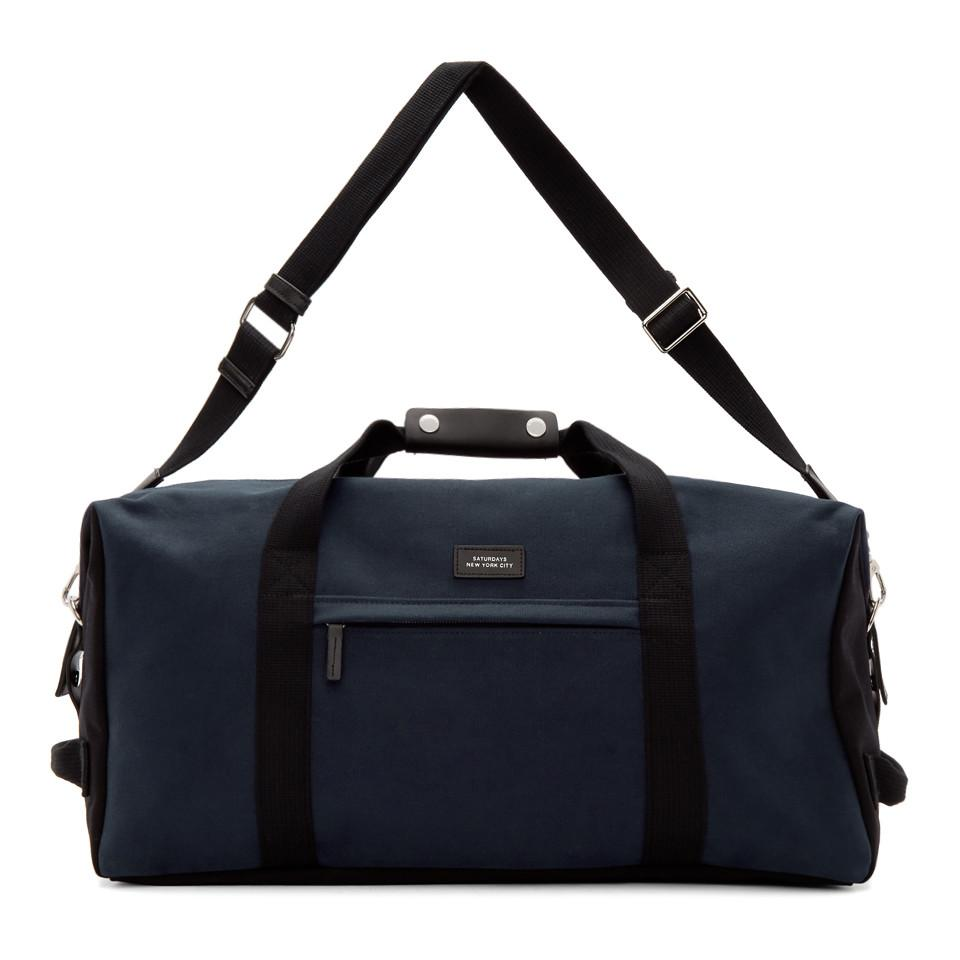 8328346f2e Lyst - Saturdays NYC Navy Norfolk Hold All Duffle Bag in Blue for Men