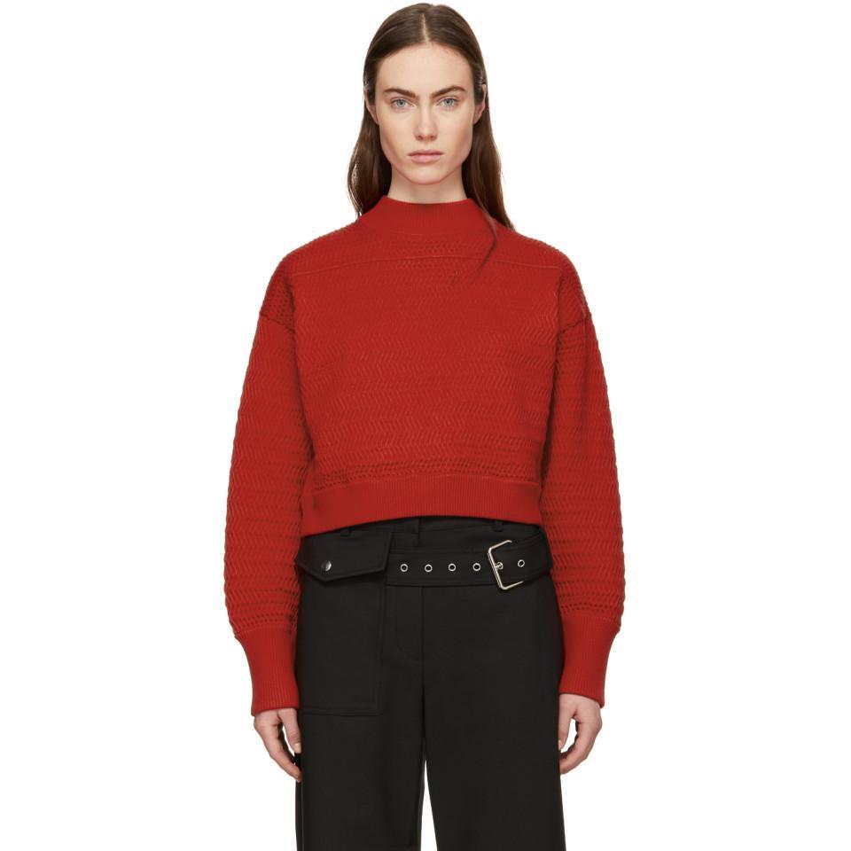 White Faux Plait Silk Cocoon Sweater 3.1 Phillip Lim Brand New Unisex Online VvF2hv