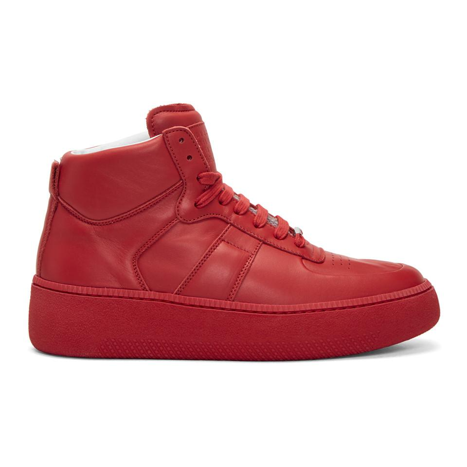 Maison Margiela Chunky Sole High-Top Sneakers 5RBeh