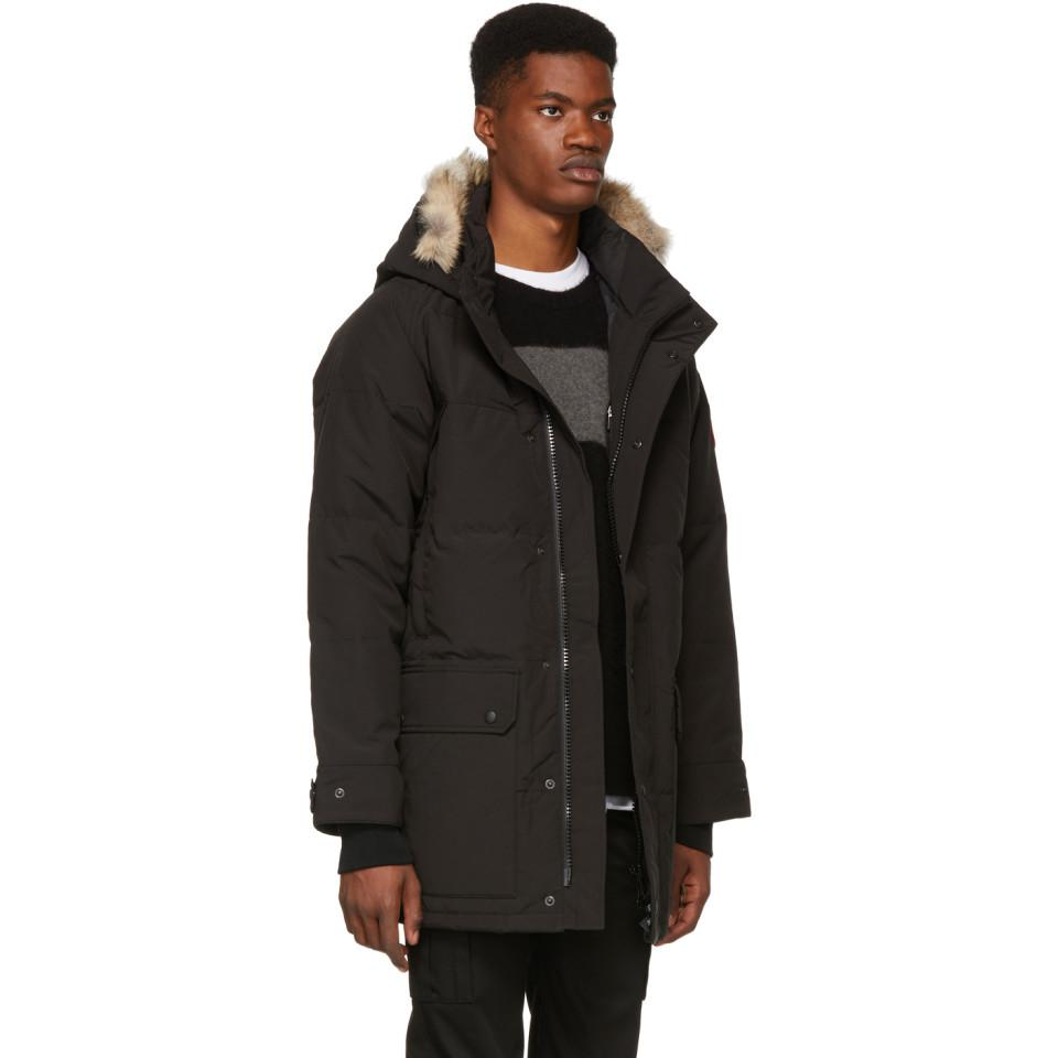 b5dea665b9ea Canada Goose - Black Down Emory Parka for Men - Lyst. View fullscreen