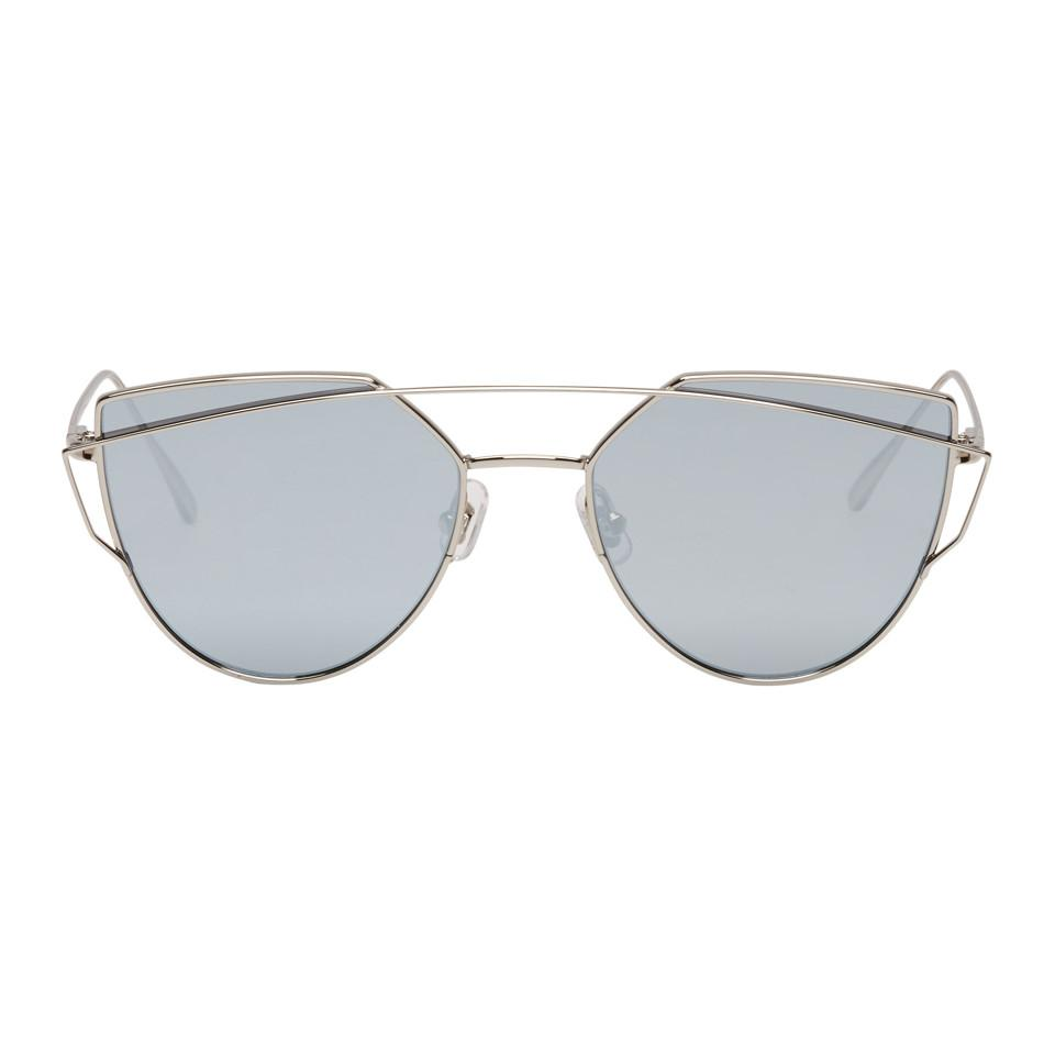 cf17e3f1d661 Lyst - Gentle Monster Silver And Blue Love Punch Sunglasses in Metallic