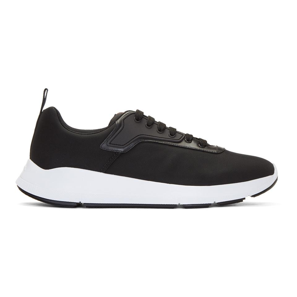 6dc18af100059d Prada Black Nylon Tech Sneakers in Black for Men - Lyst