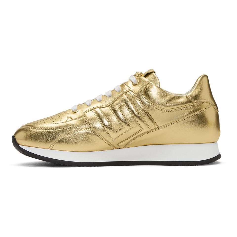 Gold Greek Key Sneakers Versace bvEVEg4fL