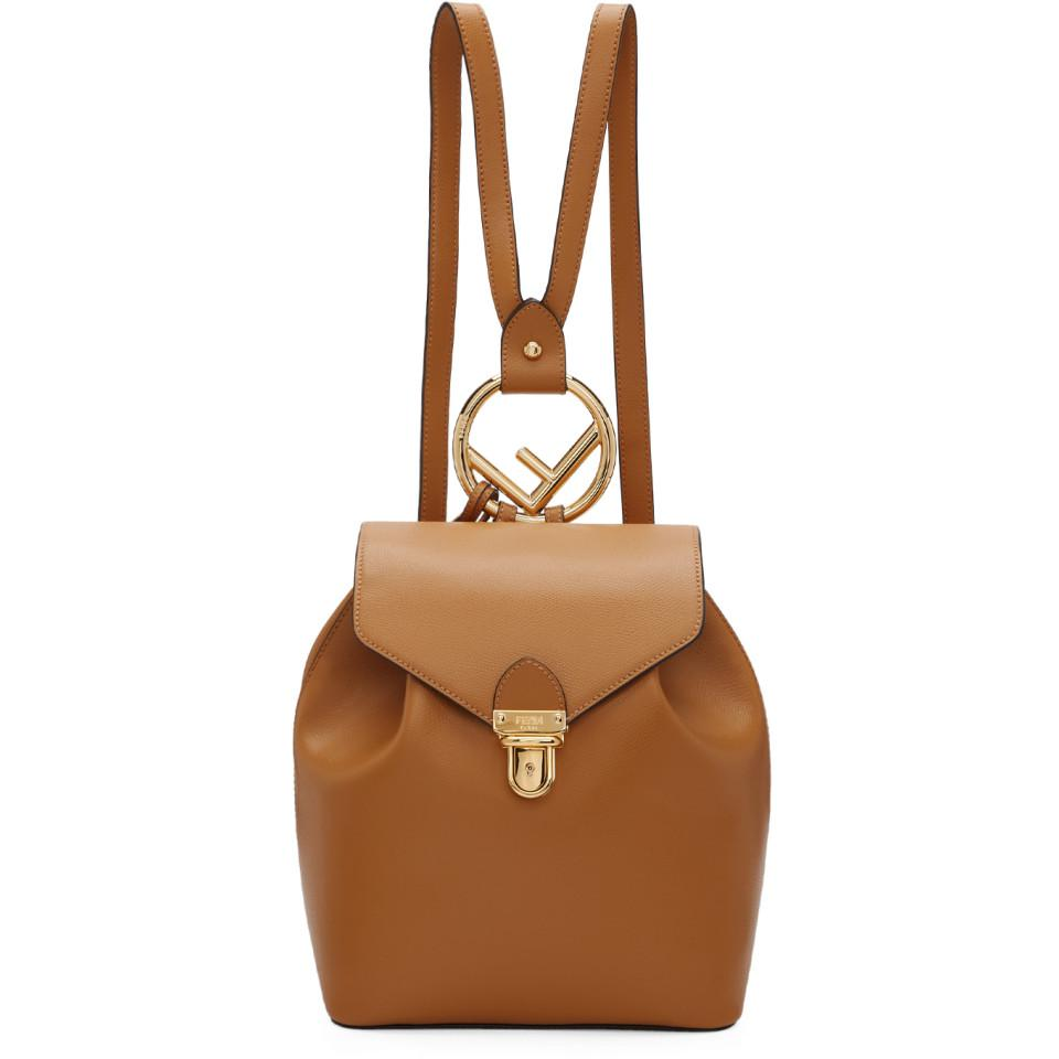 a49ce171eb59 Lyst - Fendi Brown F Is Backpack in Brown