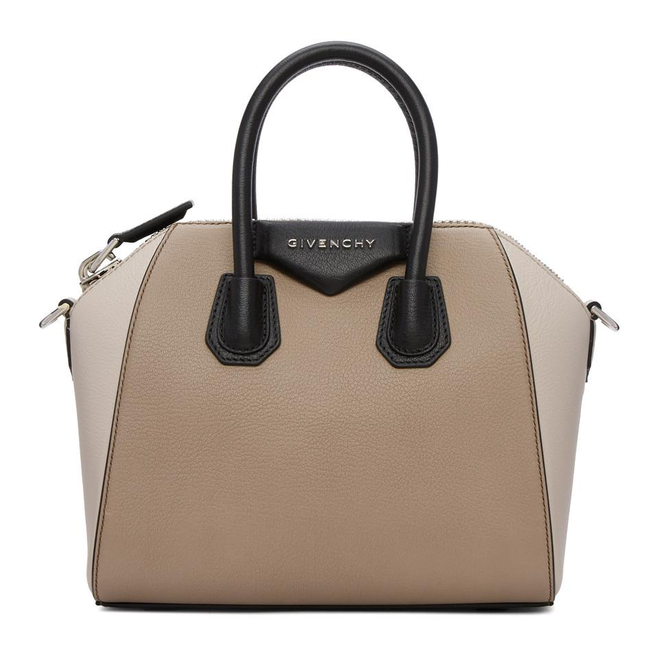 1b2059e9c5ff Lyst - Givenchy Beige Mini Antigona Bag in Natural