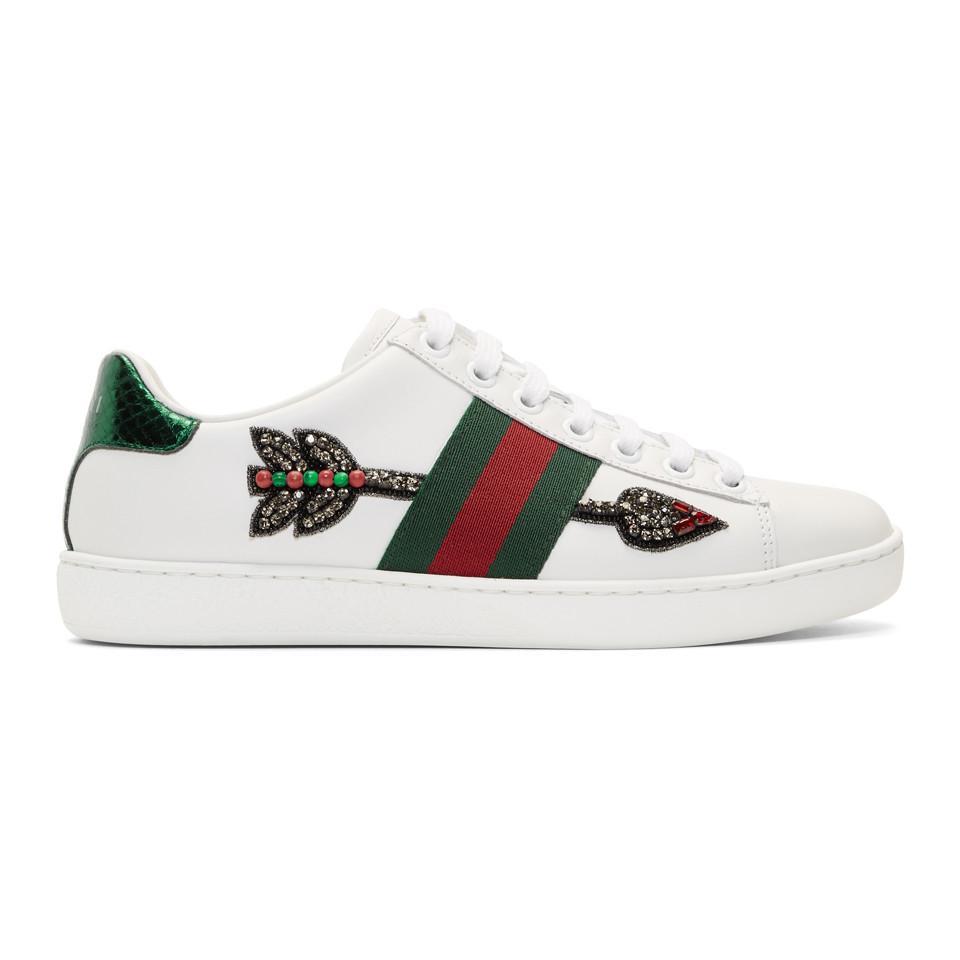 Za116Jy8pJ White Bleeding Arrow Ace Sneakers GrIZTUf