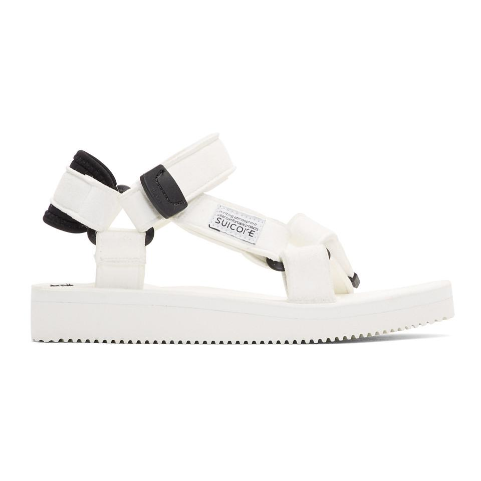 a1bbdaae0a58 Lyst - Suicoke White Depa Sandals in White