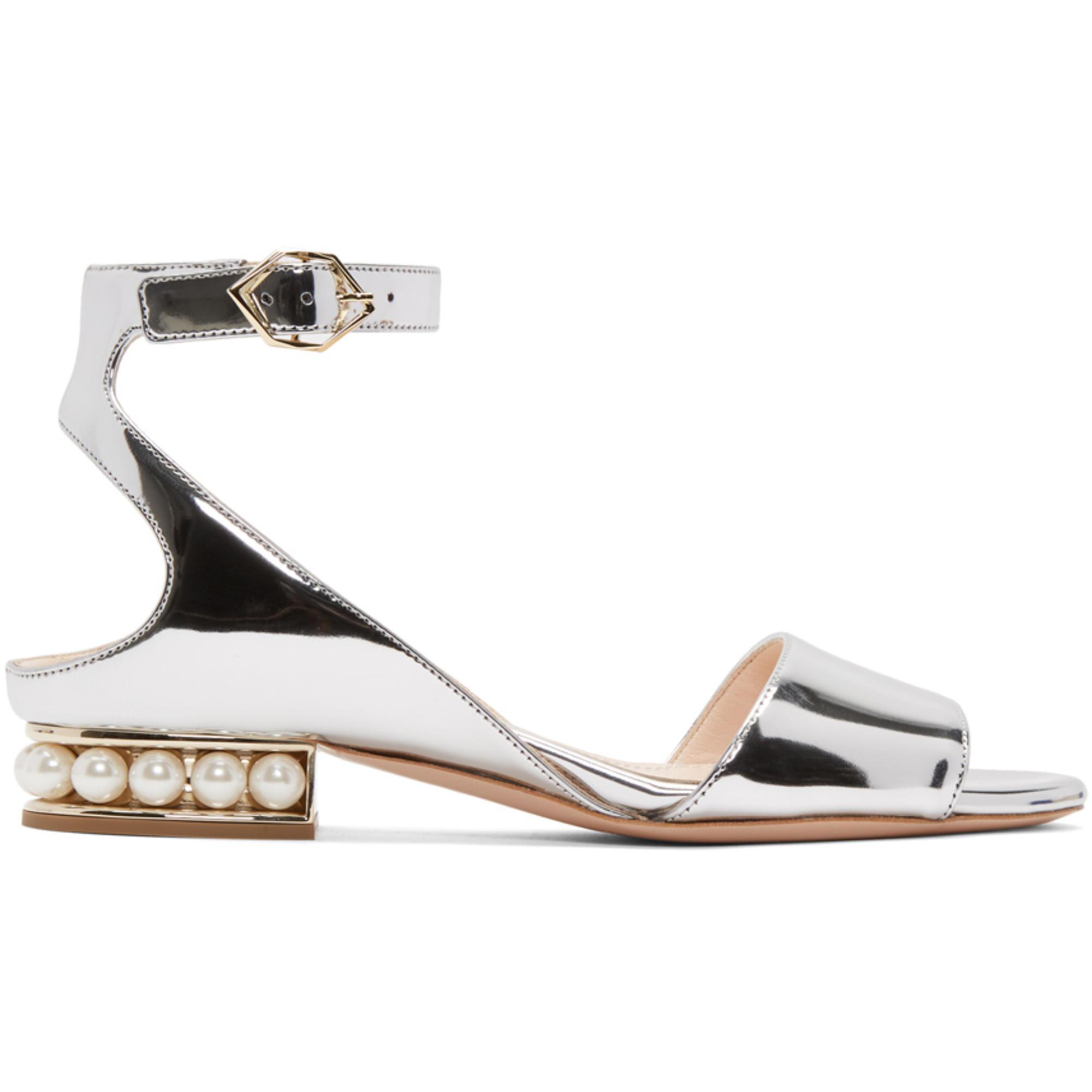 8a8f13b6adf Lyst - Nicholas Kirkwood Silver Metallic Lola Pearl Sandals in Metallic