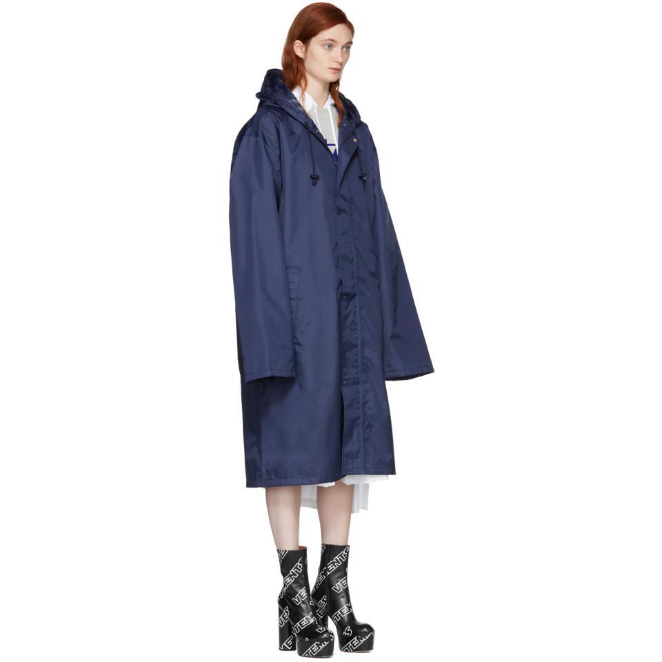 Vetements Navy Virgo Horoscope Raincoat In Blue Lyst