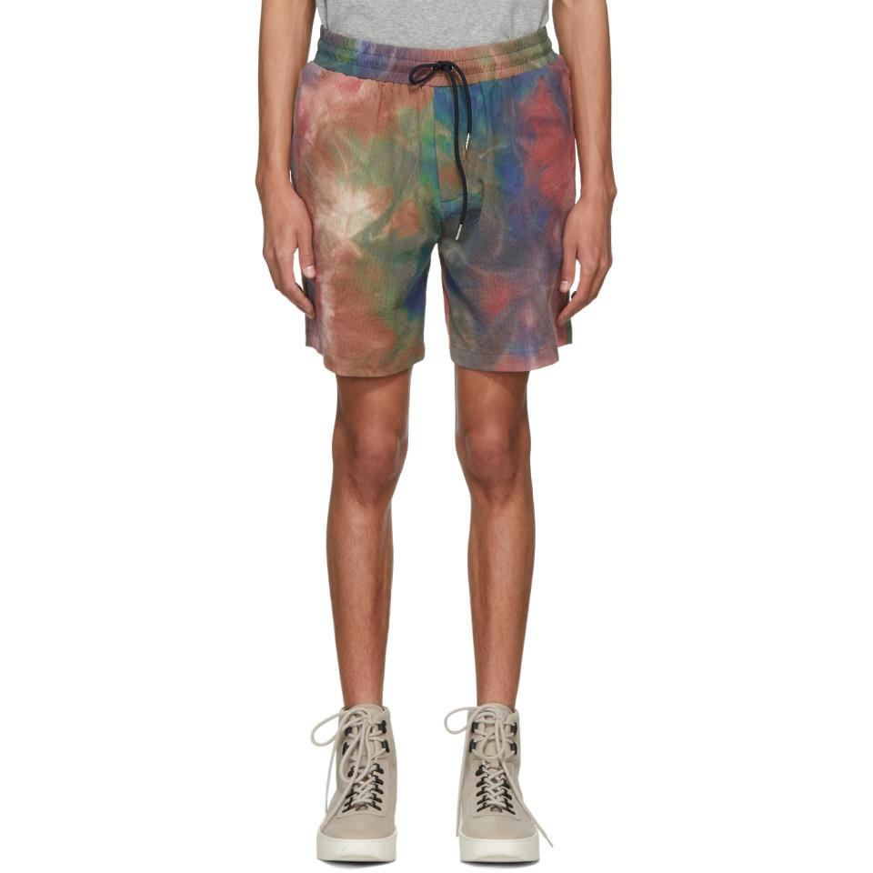 Lyst - Aimé Leon Dore Leisure Tie-dyed Stretch-cotton Shorts for Men 0338e01db6c