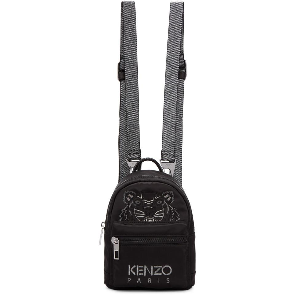 e1a3bd6d7d Kenzo Black Limited Edition Holiday Mini Tiger Backpack in Black - Lyst