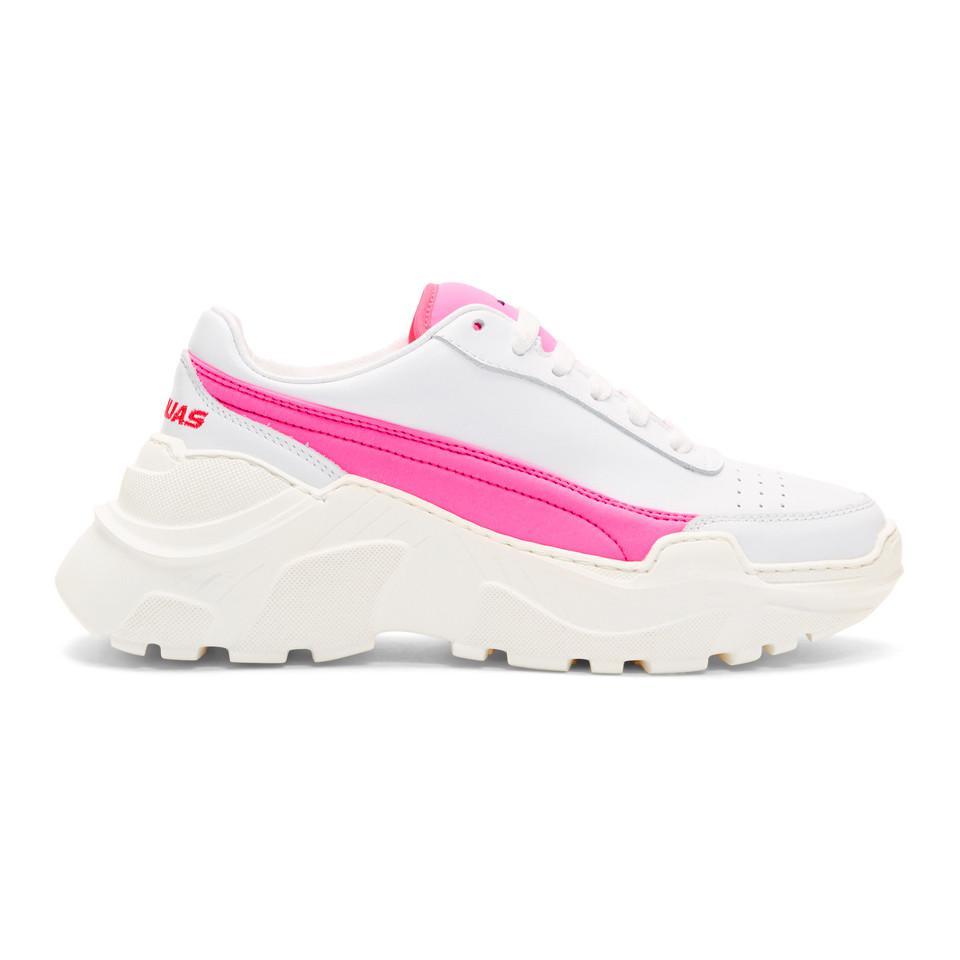 Joshua Sanders SSENSE Exclusive White & Pink Zenith Sneakers outlet original AJvFSOx