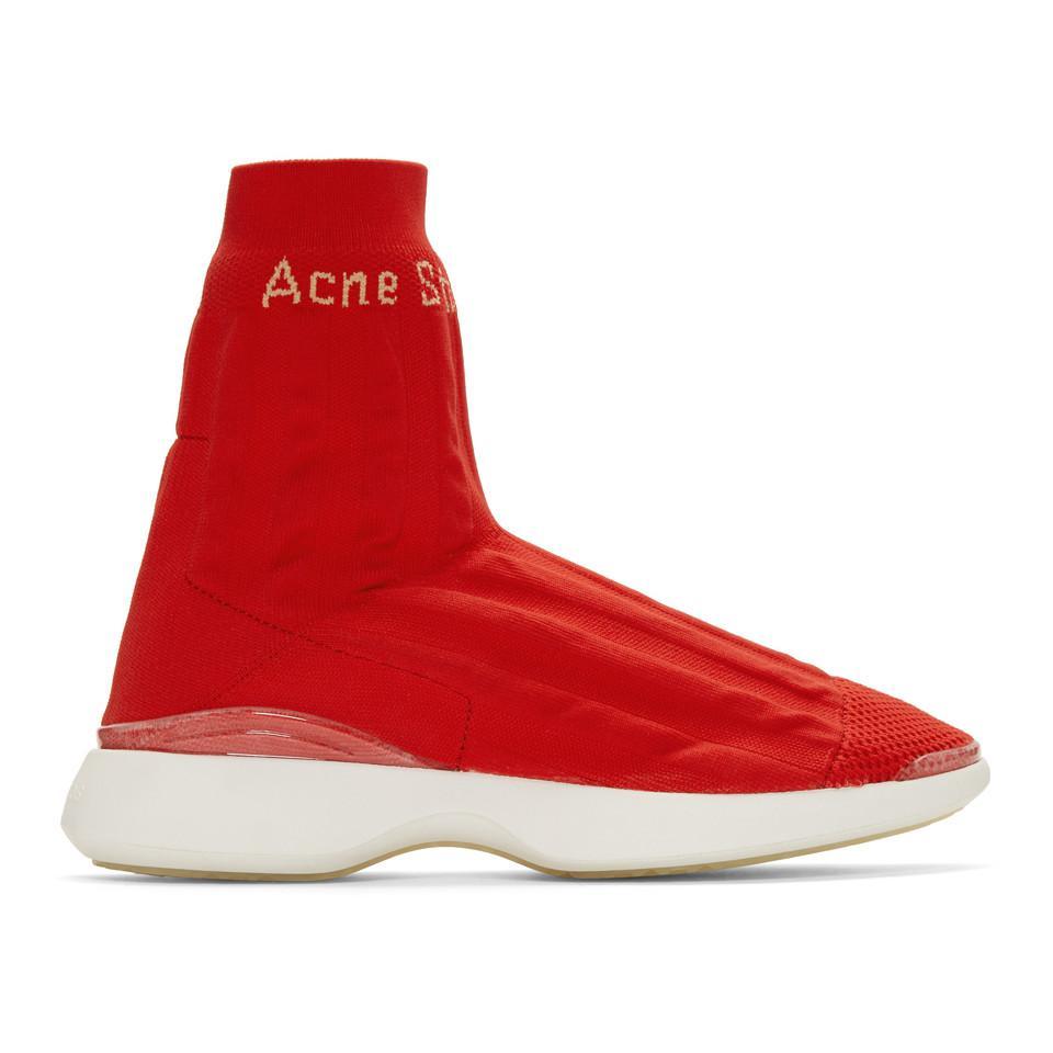 Orange Batilda Sock High-Top Sneakers Acne Studios YNRjb9